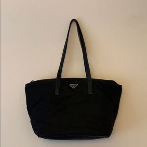 Authentic Black Prada Shoulder Bag